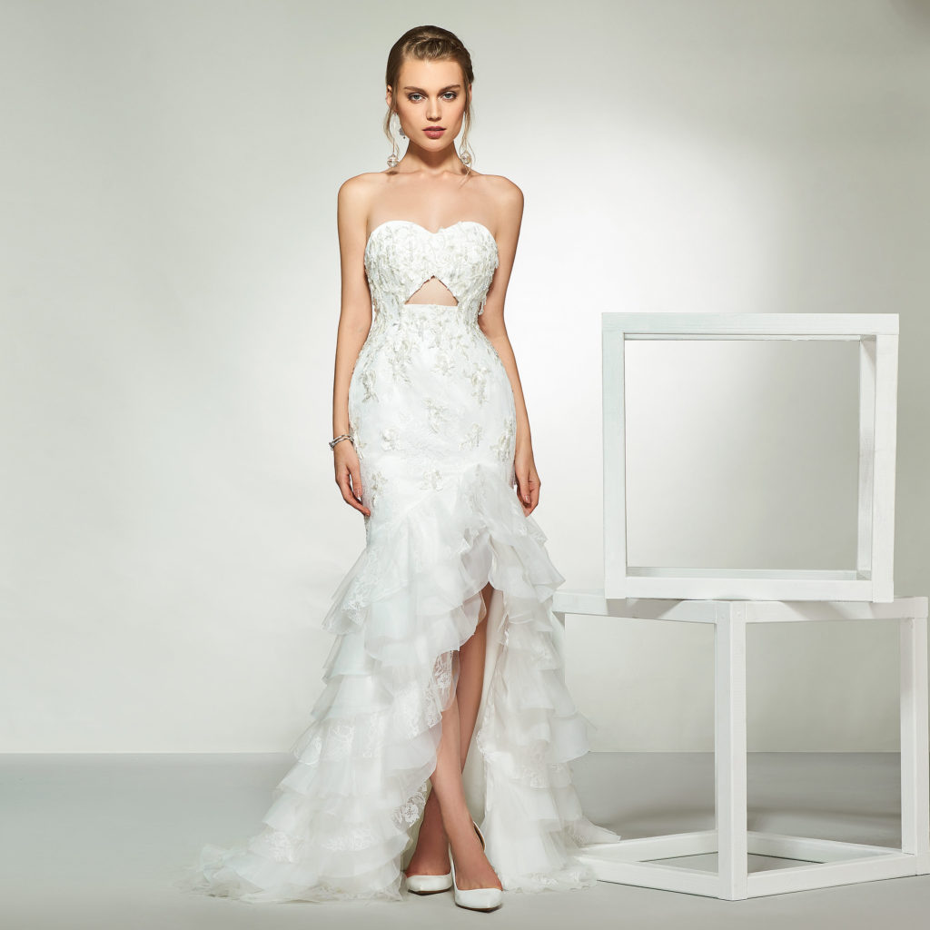 Asymmetry-Beach-wedding-dress